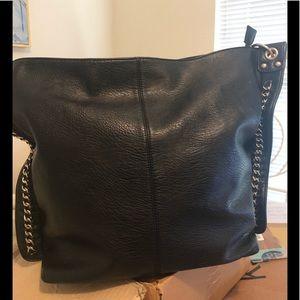 Used once leather like shoulder bag